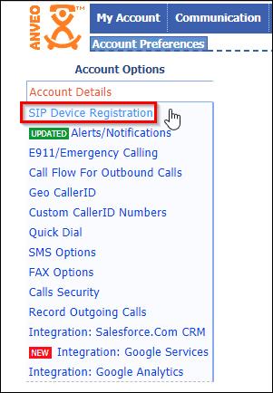 SIP Device Registration